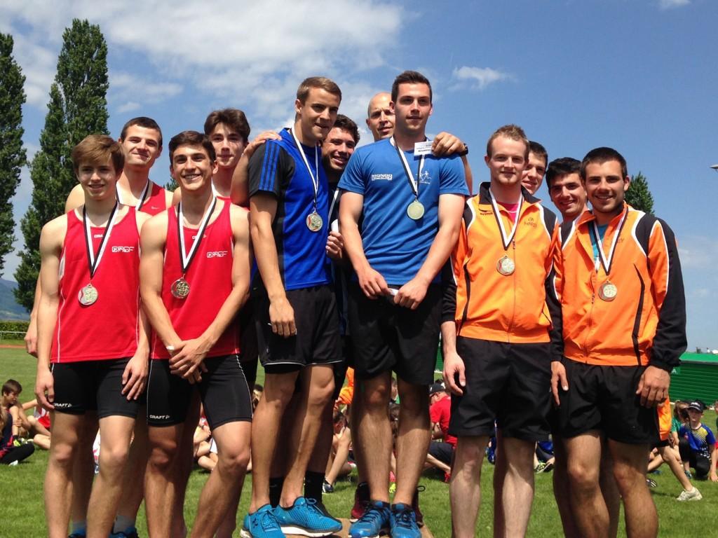 2e place de l'équipe homme - relais 4 x 100m